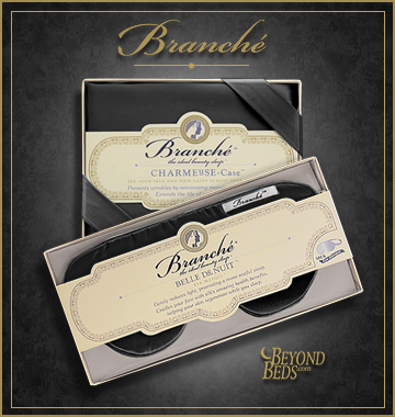 Black Silk Pillowcase And Eye Mask By Branche Obs