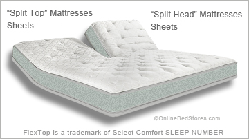 Flex Top Mattress Sheets Split Head Sheets OBS